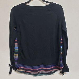 LOFT Colorful Stripe Back Detail Long Sleeve, sz S